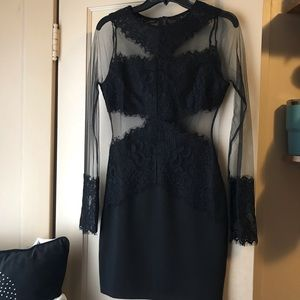 Sheer black dress with lace